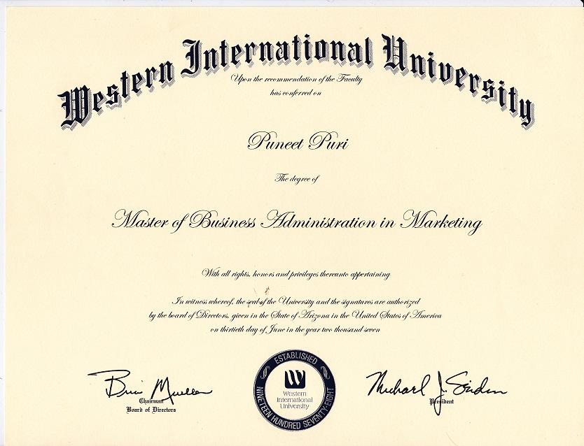 Master Program - Student International Sport